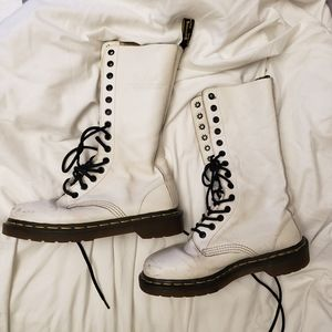 Doc martens white 14 eye boots
